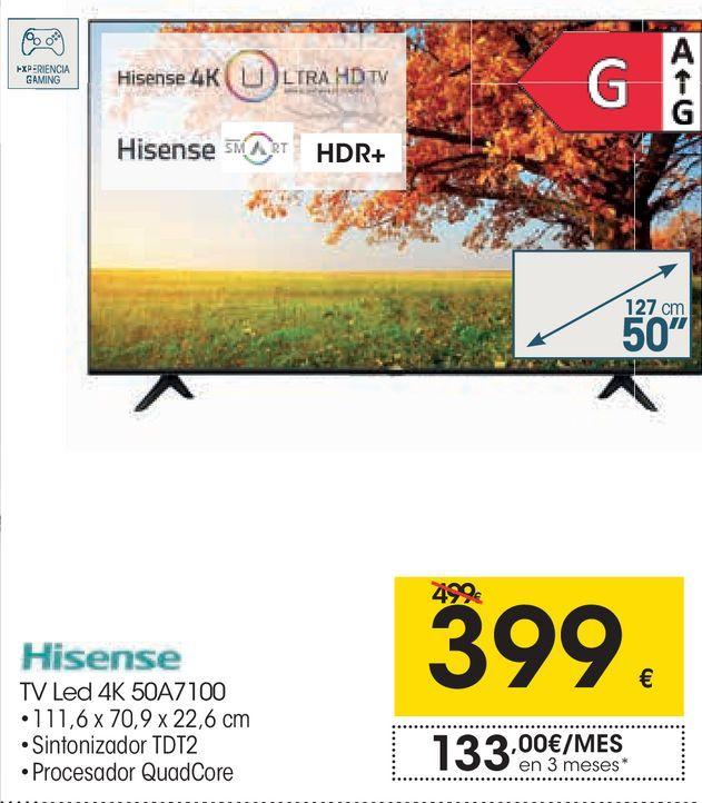Oferta de Tv led Hisense por 399€