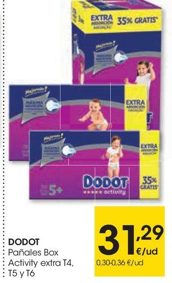 Oferta de Pañales box activity Dodot por 31,29€