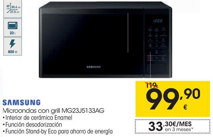 Oferta de Microondas con grill Samsung por 99,9€