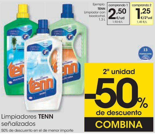 Oferta de Limpiador con bioalcohol Tenn por 2,5€