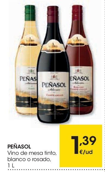 Oferta de Vino de mesa tinto, blanco o rosado peñasol por 1,39€