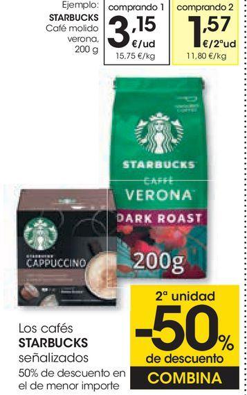 Oferta de Café molido starbucks por 3,15€