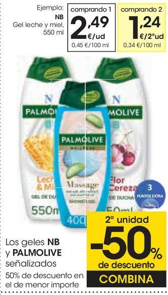 Oferta de Gel leche y miel NB por 2,49€