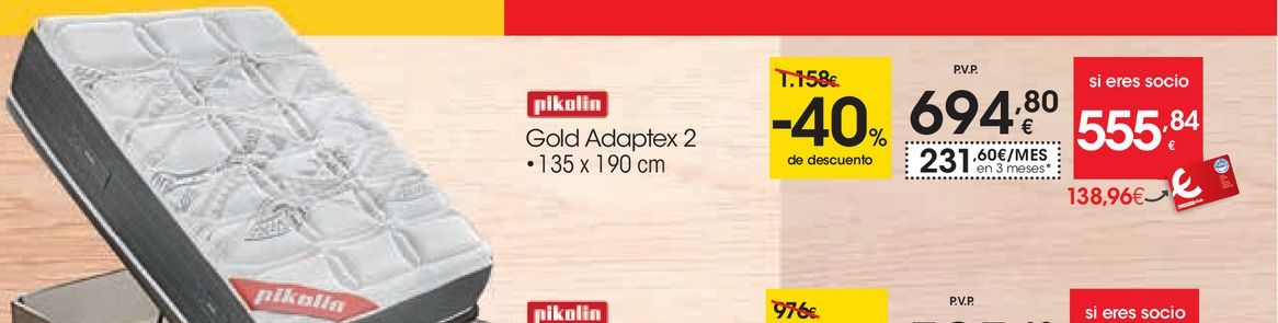 Oferta de Gold adaptex Pikolin por 694,8€