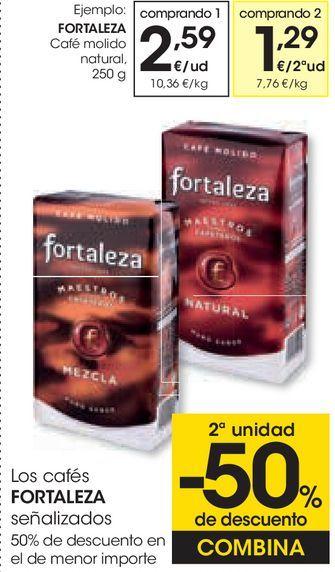 Oferta de Café molido natural Fortaleza por 2,59€