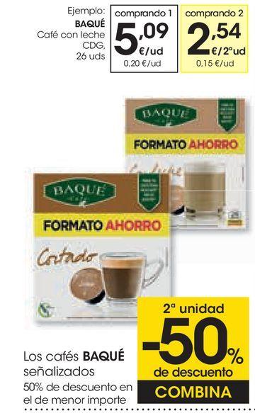 Oferta de Café con leche Baqué  por 5,09€