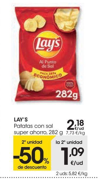 Oferta de Patatas con sal super ahorro Lay's por 2,18€