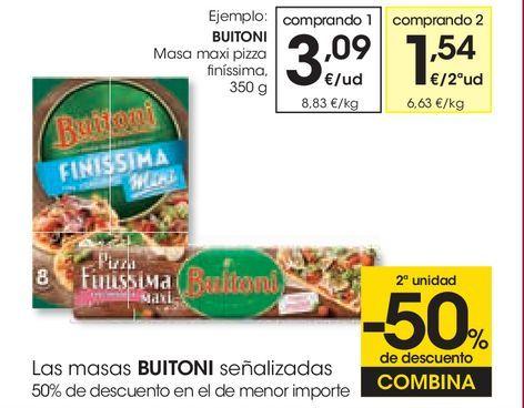Oferta de Masa maxi pizza finíssima Buitoni por 3,09€