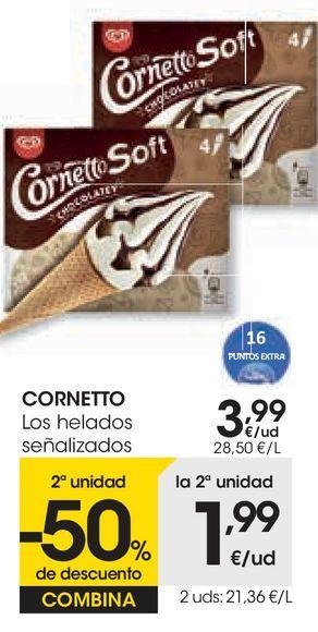 Oferta de Los helados cornetto por 3,99€