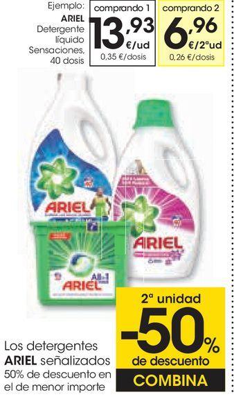 Oferta de Detergente líquido Ariel por 13,93€