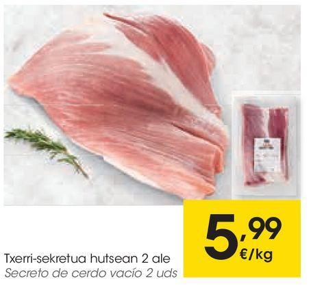 Oferta de Secreto de cerdo vacío por 5,99€