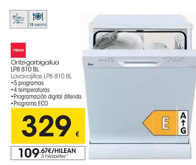 Oferta de Lavavajillas Teka por 329€