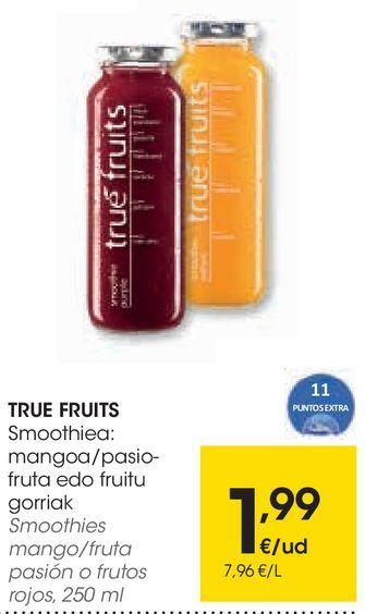 Oferta de Smoothies mango/fruta pasión o frutos rojos por 1,99€