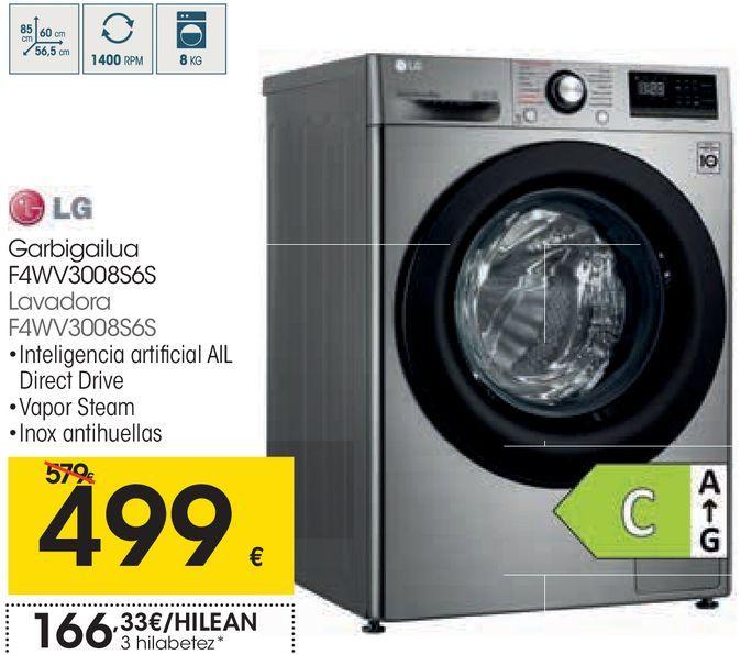 Oferta de Lavadoraº LG por 499€