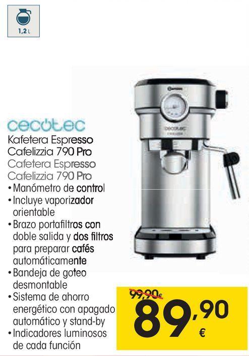 Oferta de Cafetera express cecotec por 89,9€