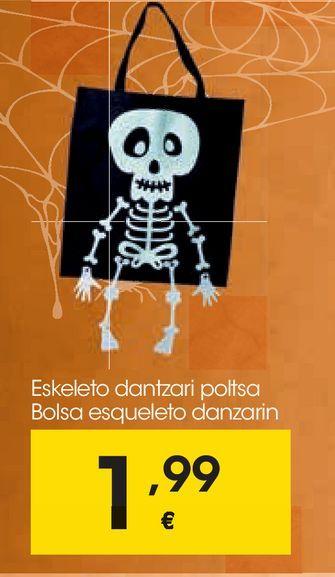 Oferta de Bolsa esqueleto danzarín por 1,99€