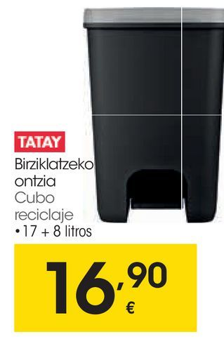 Oferta de Cubo de reciclaje Tatay por 16,9€