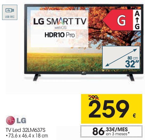 Oferta de Tv led LG por 259€
