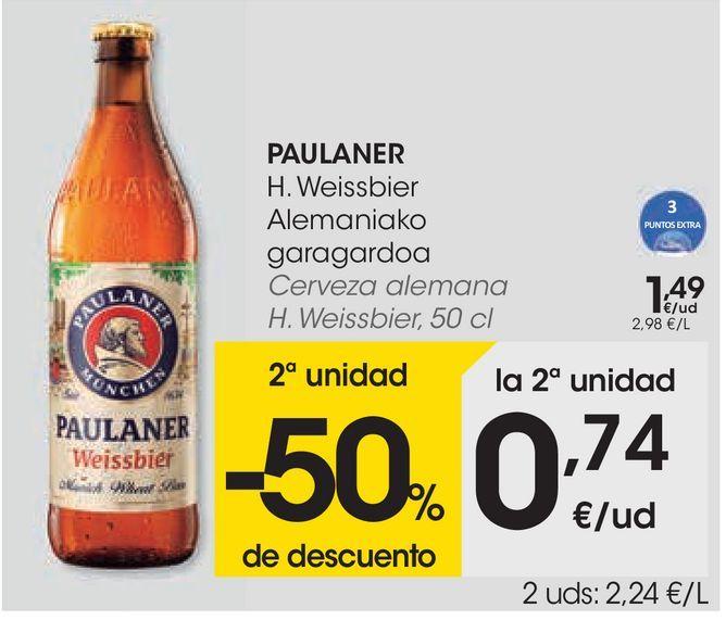 Oferta de Cerveza alemana Paulaner por 1,49€