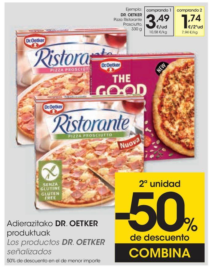 Oferta de Pizza Ristorante mozarella por 3,49€
