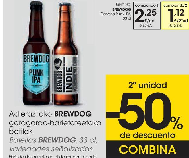 Oferta de Cerveza en botella por 2,25€