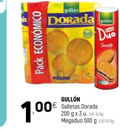 Oferta de Galletas dorada por 1€
