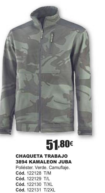 Oferta de CHAQUETA DE TRABAJO 3894 KAMALEON JUBA  por 51,8€