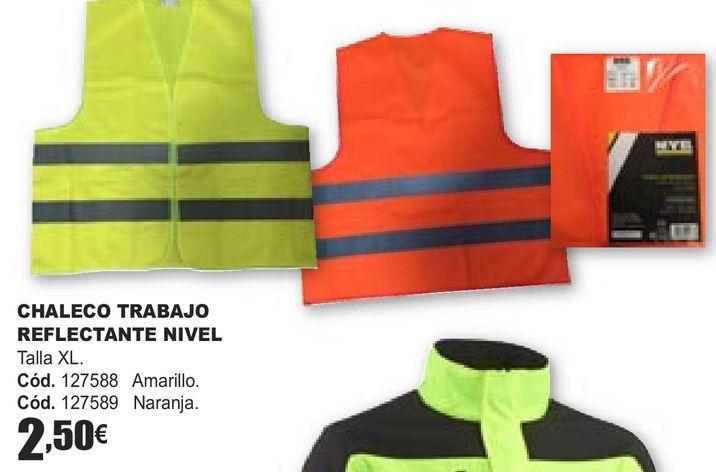 Oferta de CHALECO TRABAJO REFLECTANTE NIVEL  por 2,5€