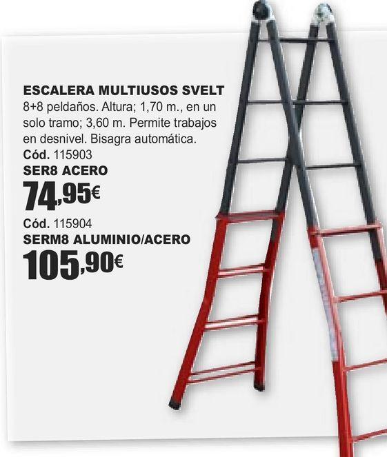 Oferta de ESCALERA MULTIUOSOS SVELT  por 74,95€