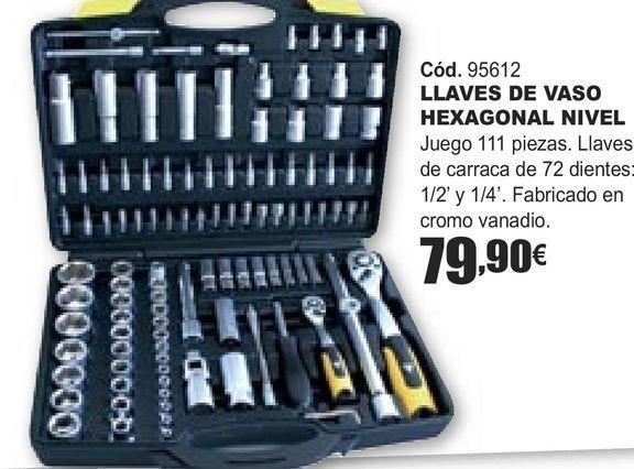 Oferta de LLAVES DE VASO HEXAGONAL NIVEL  por 79,9€