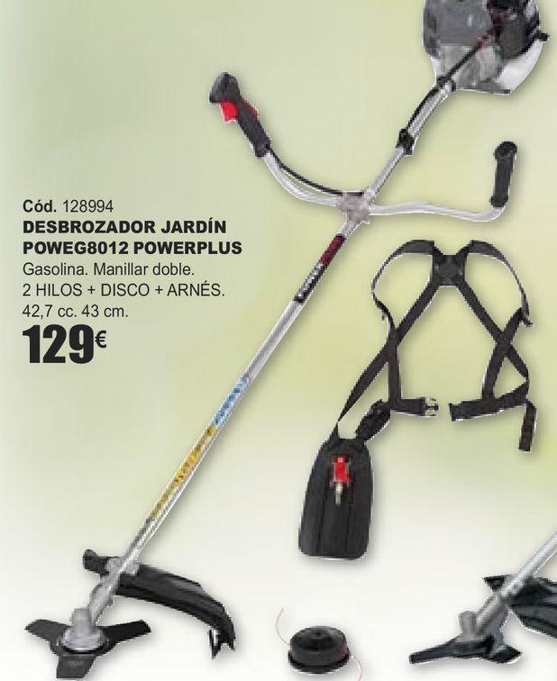 Oferta de DESBROZADORA JARDÍN POWEG8012 POWERPLUS  por 129€