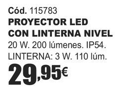 Oferta de PROYECTOR LED CON LINTERNA NIVEL  por 29,95€