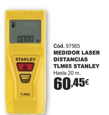 Oferta de MEDIDOR LASER DISTANCIAS TLM65 STANLEY  por 60,45€