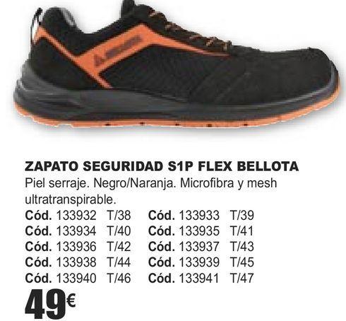 Oferta de ZAPATOS SEGURIDAD S1P FLEX BELLOTA  por 49€