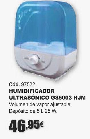 Oferta de HUMIDIFICADOR ULTRASÓNICO GS5003 HJM  por 46,95€
