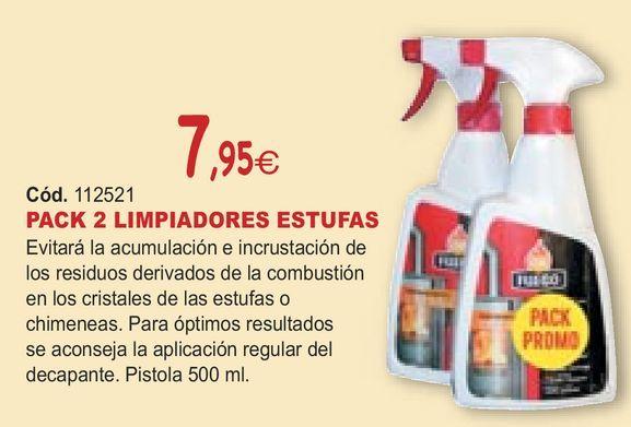 Oferta de PACK 2 LIMPIADORES ESTUFAS por 7,95€