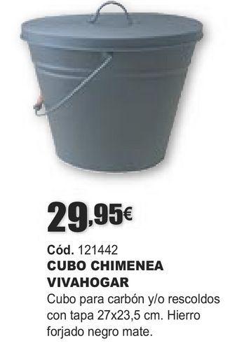 Oferta de CUBO CHIMENEA VIVAHOGAR por 29,95€