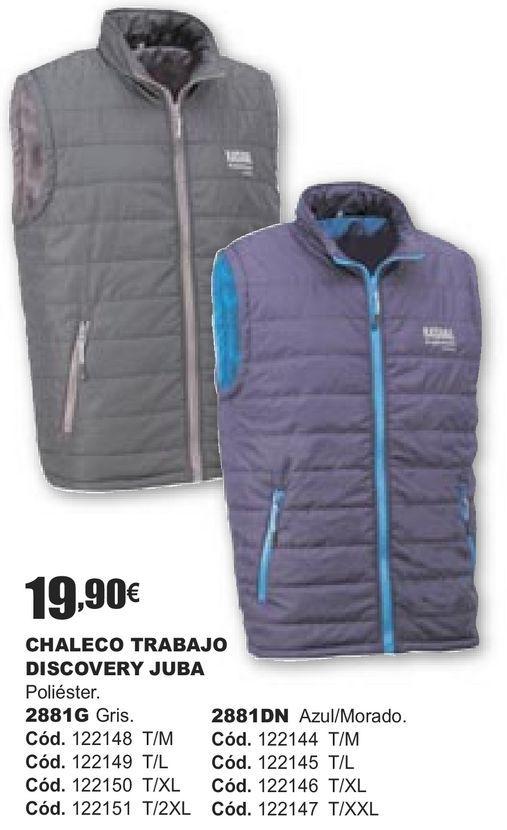 Oferta de CHALECO TRABAJO DISCOCERY JUBA  por 19,9€