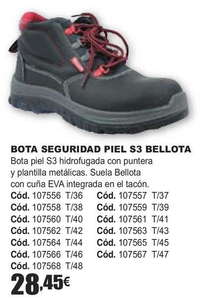 Oferta de BOTA SEGURIDAD PIEL S3 BELLOTA  por 28,45€