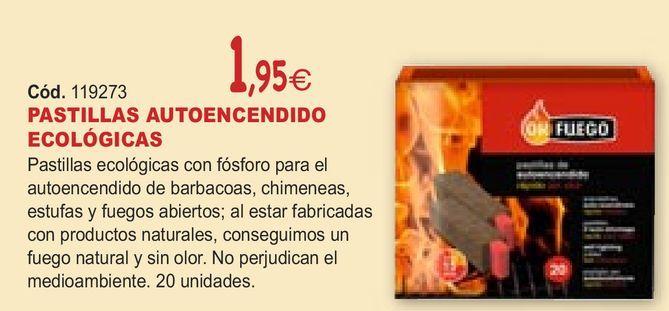 Oferta de PASTILLAS AUTOENCENDIDO ECOLÓGICAS  por 1,95€