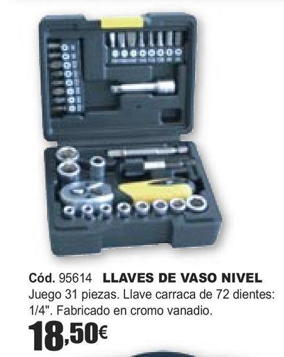 Oferta de LLAVES DE VASO NIVEL  por 18,5€
