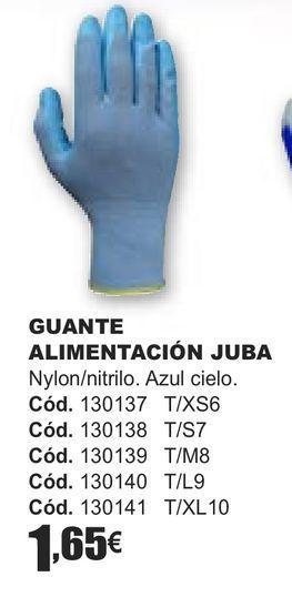 Oferta de GUANTE ALIMETANCIÓN JUBA  por 1,65€