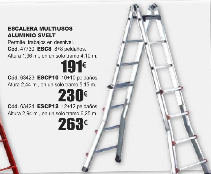 Oferta de ESCALERA MULTIUSOS ALUMINIO SVELT  por 191€