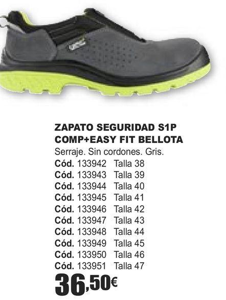 Oferta de ZAPATOS SEGURIDAD S1P COMP+EASY FIT BELLOTA  por 36,5€