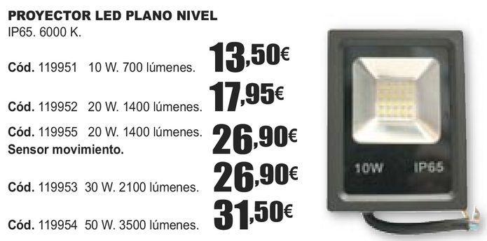 Oferta de PROYECTOR LED PLANO NIVEL  por 13,5€
