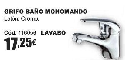 Oferta de GRIFO DE BAÑO MONOMANDO  por 17,25€