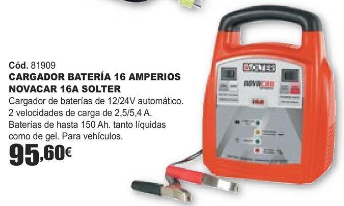 Oferta de CARGADOR BATERÍA 16 AMPERIOS NOVACAR 16A SOLTER  por 95,6€