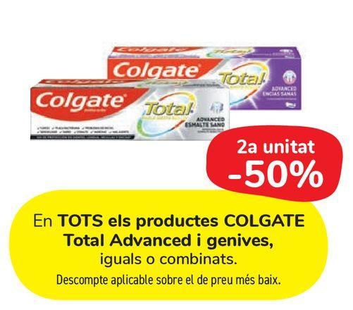 Oferta de En TODOS los productos COLGATE Total Advanced y Encías por