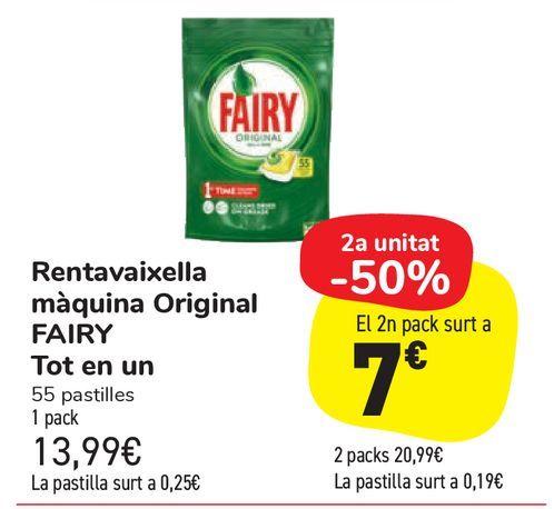 Oferta de Lavavajillas máquina Original FAIRY Todo en un por 13,99€