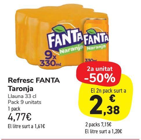 Oferta de Refresco FANTA naranja por 4,77€